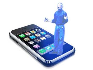 Steve-Jobs-hologram-on-iPhone