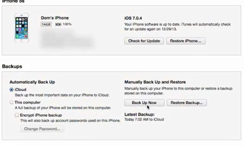 backup your iphone or ipad before jailbreaking